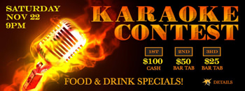 karaoke contest graphic design