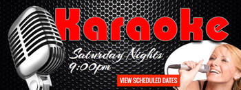 weekly karaoke graphic design