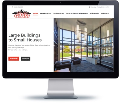 Glacier Glass LLC Website Design