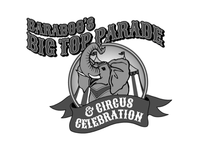 Baraboo's Big Top Parade logo for website
